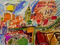 ART-CONTEMPORAIN-MODERNE.-merello.-colors of new york (54x73 cm) mix media on table