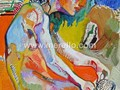 ART-CONTEMPORAIN-MODERNE.-merello.-desnudo blanco (40x30 cm) oil-wood